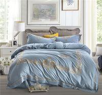 Wholesale oriental bedding resale online - 27 Oriental embroidery Bedding Set Egyptian cotton Duvet Cover Bed Sheet Sets Queen king Size Jogo de Cama