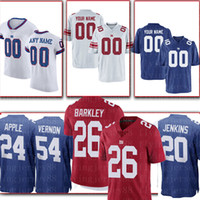 manzana personalizada al por mayor-camiseta personalizada de los New York Giants 56 Taylor 92 Strahan 98 Harrison 87 Shepard 24 Apple 88 Engram 20 Jenkins 90 Jerseys Pierre-Paul Jernigan