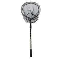 red de aluminio al por mayor-TOP! -170cm Retráctil telescópica aleación de aluminio plegable de pesca Brail Landing Net Polo Tackle