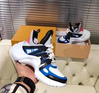 parte superior arqueada venda por atacado-Qualidade superior de luxo archlight sapatilha homens e mulheres formadores de couro tpu sola arco luz andando sapatos de calçados sneakers