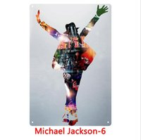 Wholesale pop art wall decoration for sale - Group buy Metal Tin Signs The King of Pop MJ Wall Art Retro TIN SIGN Old Wall Metal Painting ART Bar Man Cave Pub Restaurant Home Decor