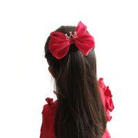 niños coreanos arcos al por mayor-Boutique coreana Clips para el cabello Corona arcos para el cabello Girl HairClips arcos grandes para niños Barrettes princesa Horquillas para el cabello accesorios para el cabello diseñador A4282