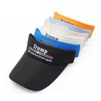Wholesale keep hats for sale - Donald Trump Empty Top Cap Keep America Great Baseball Visors Cap Cotton Sport Ball Cap Travel Beach Sun Hats TTA735