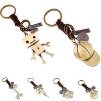 llaves de jirafa al por mayor-Movible Robot Llavero Gorra de béisbol Totoro Jirafa Búho Corazón Llavero Lo siento por ti Robot Llavero Llavero Llavero Will y Sandy Drop Ship