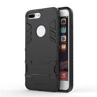 eisen mann silikon abdeckung fall groihandel-Für iPhone X XS XR Max 6 s 7 8 Plus PC Silikon Iron Man Anti Shock Proof 3D Schild Fall Ständer Abdeckung Shell