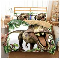 Wholesale queen bedding sets for boys for sale - Group buy 6 styles D Dinosaur bedding Sets Boys Children Bedclothes Duvet Cover pillowcase sets Single Double Queen Super King for AU US EU Size