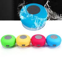 wasserdichtes lautsprechermikrofon großhandel-Bluetooth-Lautsprecher Tragbarer, stilvoller, wasserdichter Bluetooth-Freisprechmikrofon-Stereolautsprecher mit Saugnapf-Lautsprecher