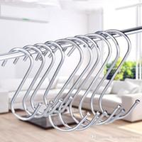 S Shape Metal Hanging Hooks Household 7CM 9CM Storage Hook Trade Show Store Products Hanger Bathroom Racks Kitchen Hooks BH1877 TQQ