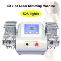 diodo laser redução de gordura venda por atacado-Máquina do emagrecimento do corpo do laser do diodo Equipamento de emagrecimento portátil da pele da redução gorda do emagrecimento do laser de Lipo 528 diodos