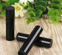 kaliteli dudaklar sopa toptan satış-Dudak Çubuk 5000pcs 5cc Yüksek Kalite Makyaj Aracı 5g Plastik Dudak Tüp Siyah Ruj Şişe / lot