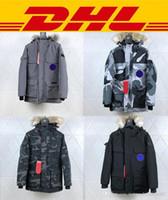 moda do homem parka de inverno venda por atacado-2020 New estilo descontraído Top Quality Canadá White Goose Jackets Pbi Expedition Parka Fusão Fit Men Moda Canada Jacket Tendência Casual Inverno