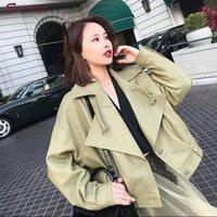 grüne kunstlederjacken großhandel-Special New Faux Leather Jacket Damenjacke Reißverschluss Punto Blouson Moto Damen Chaqueta tachas campera mujer Green