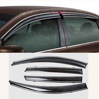Wholesale plastic windows for cars resale online - For Hyundai Kona Encino Kauai Car Cover Plastic Window Glass Wind Visor Rain Sun Guard Vent Word Frame Lamp