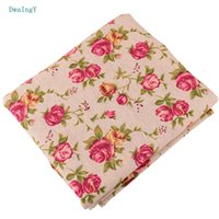 Wholesale linen cotton sofa fabric resale online - DwaIngY Peony series Cotton Linen Fabric For Sewing DIY Quilting Sofa Curtain Bag Cushion Furniture Cover Material Half Meter