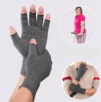 Wholesale women s fashion mittens resale online - Gloves Arthritis Compression Glove Magnetic Anti Arthritis Health Therapy Rheumatoid Hand Pain Wrist Support Sports Safety Glove LJJA3458