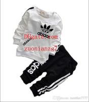 hazır giyim toptan satış-Bebek Erkek Ve Kız Takım Elbise Marka Eşofman Çocuklar Giyim Seti Sıcak Satmak Moda Bahar Sonbahar Uzun Kollu Giysi G-G1