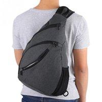 sacos de lona para homens venda por atacado-Unisex Outdoor Sports Peito Bolsas de Grande Capacidade impermeável Sling Bag Homens Mulheres lona ombro Peito pacote