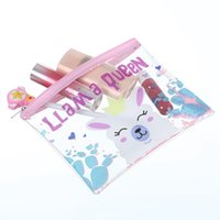 Wholesale beauty vanity cases resale online - Cute Cartoon Unicorn Makeup Bag Women Cosmetic Bag Transparent Zipper Make Up Pouch Travel Toiletry Organizer Beauty Vanity Case