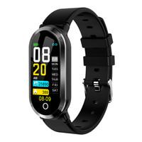 assiste a exibição em cores venda por atacado-T11 inteligente Academia Sport Watch Bracelet 0,96 Inch Color Display Monitor de Freqüência Cardíaca Atividade Rastreador Band para Homens Mulheres