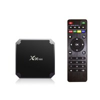 quad core android 4.4 smart tv venda por atacado-Original x96mini android 7.1 x96 mini- caixa de tv inteligente 4 k * 2 k quad core amlogic s905w suporte 2.4 wifi + ir cabo