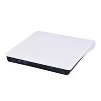 unidade óptica dvd usb venda por atacado-Unidade de DVD óptico Leitor Gravador Externo Portátil CD-RW ROM Player USB 3.0 Ejetor Queimador Para PC Portátil MAC