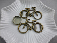 Wholesale vintage metal bottle openers resale online - Eco Friendly Openers Vintage Metal Bicycle Bike Shaped Wine Beer Bottle Opener For Cycling Lover Wedding Favor Party Gift Present
