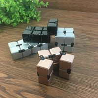 ingrosso cubo neo-Per Infinite Infinity Cube 2 di alta qualità Fidget Cube Rubic neo cubo Antistress Spiner magico dito Spinner giocattolo cubo Magico