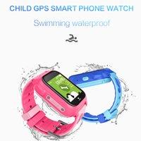 montres filles mignonnes achat en gros de-Montres intelligentes mignonnes pour les enfants avec GPS Tracker sécurité enfant bébé Smartwatch montres enfants imperméables pour fille Android Android garçons