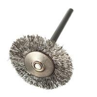круглые нержавеющие диски оптовых-10 pcs Stainless Steel Wire Brushes Disc Brush Round Brush 25mm Diameter for Dremel