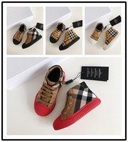 ingrosso pantofole invernale dei capretti-Burberry Brand kids caviglia Designers Fashion Designer Sneakers Inverno Designer di alta qualità Scarpe Sneakers Pantofole