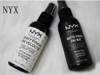 Wholesale finished nails for sale - Group buy NYX MAKEUP SETTING SPRAY Matte Finish Dewy Finish Long lasting Setting Spray ML Fini Face Beauty