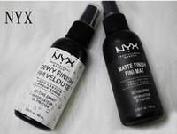 spray de beleza venda por atacado-NYX MAQUIAGEM CONFIGURAÇÃO SPRAY Fosco Acabamento Dewy Acabamento Longa duração Spray de Fixação 60 ML Fini Rosto Beleza