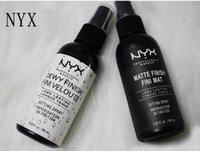 spray de belleza al por mayor-NYX SPRAY DE AJUSTE DE MAQUILLAJE Acabado mate Acabado cubierto de rocío Spray de ajuste de larga duración 60ML Fini Face Beauty