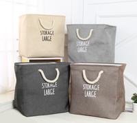 baumwollhandgriffbeutel großhandel-EVA-Falt- und Aufbewahrungsbeutel erhalten Korb für schmutzige Kleidung mit Baumwollseilgriff Double-Deck-Verdickung großer Empfangskasten 20ytC1
