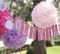 Wholesale flower balls wedding decorations for sale - Group buy 14 quot cm Paper artificial PomPom Tissue Balls Flower for Home Wedding Party Car Decoration Pompon crafts Supplies