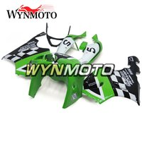 Wholesale kawasaki zx7r green fairings resale online - ABS Plastic Motorcycle Full Fairings For Kawasaki ZX7R Ninja ZX R Cowlings Silkolene Green Black Covers