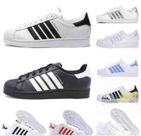 Wholesale shoes flexible soles resale online - Cheap Sperstars Shoes Best Casual Shoes Flexible Soles Classic White Black Red Green Blue Super Star s Leather Flats mens womens sneakers