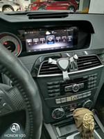 navigation stéréo automatique d'écran tactile de pouce achat en gros de-8.8inch Android 7.1 2G RAM voiture lecteur dvd stéréo de voiture pour Mercedes Benz C 2011-2014 soutien carplay Wifi GPS BT Radio Mirrolink