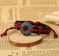 Wholesale coin womens jewelry for sale - Group buy Ancient Coin Carving Accessories Mens Bracelet Fashion Alloy Set Charms Designer Bracelet Jewelry Sets Fine Jewelry Leather Womens Bracelets