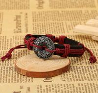 ingrosso monili delle monete della donna-Moneta antica che intaglia gli accessori Braccialetto della lega di modo dei fascini stabiliti della lega di modo Insieme dei monili del braccialetto del progettista Braccialetti delle donne di cuoio dei gioielli fini