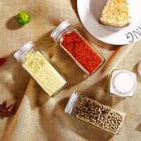 Wholesale spice jars resale online - Spice Jars Kitchen Organizer Storage Holder Container Glass Seasoning Bottles With Cover Lids Camping Condiment Containers VT1372