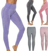 leggings de alta calidad para mujer al por mayor-Alta elasticidad transpirable de secado rápido Absorción del sudor Pantalones de yoga sin costuras Medias Body Womens Gym Leggings Calidad Envío gratis