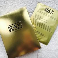 ingrosso maschera dorata per il viso-10 pz / scatola Ray Face Silk Mask Golden Silver Hydration Idratante Rassodante Pori Restringenti Illumina la cura della pelle