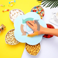 Wholesale plastic divided for sale - Group buy Rotatable Container Case Plastic Candy Holder Storage Box Organizer Accessories Five divided Compartment cm New