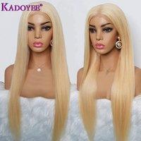 ingrosso ombre pizzo frontale-613 parrucca frontale in pizzo parrucche brasiliane diritte in pizzo parrucche dei capelli umani pre pizzicato parrucca bionda in pizzo Ombre per le donne nere