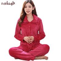 e9df8e64724 Fdfklak pijama mujer new pajamas for women long sleeve flannel pijamas  women warm velvet sleepwear pyjamas set ladies nightwear