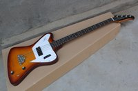 Wholesale thunderbird guitars for sale - Group buy Newest thunderbird pro electric bass guitar one piece set No Scarf bass in cherry color top quality guitar