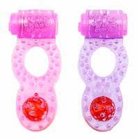 ingrosso giocattoli di eiaculazione-Danceyi Sex Toys Silicone adulto vibrazione anelli del pene uomini collari di vibrazione ritardo Eiaculazione precoce Anello sesso vibratori per gli uomini av016