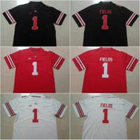 point de jersey de football achat en gros de-Ohio State Buckeyes N ° 1 de Justin Fields Blackout N ° 7 de Dwayne Haskins Jr. N ° 97 de Nick Bosa N ° 15 du Collège Elliott Cousu Maillots Livraison gratuite