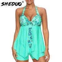 spitze plus größe badebekleidung großhandel-Sexy Badeanzug Frauen 2018 Sommer Beachwear Halter Spitze Badebekleidung Badeanzüge Bodysuit Plus Size Badeanzug Floral 5xl